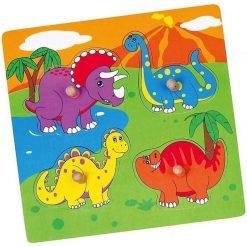Puzzle z uchwytem Dinozaury