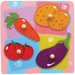 Puzzle-niespodzianka z uchwytem Warzywa