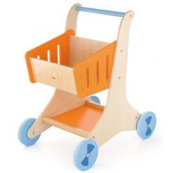 Drewniany wózek sklepowy