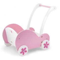 Różowy wózek dla lalek