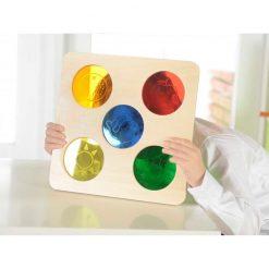 Tablica sensoryczna Kolorowe szkiełka