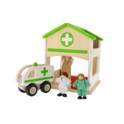 Drewniany miniszpital