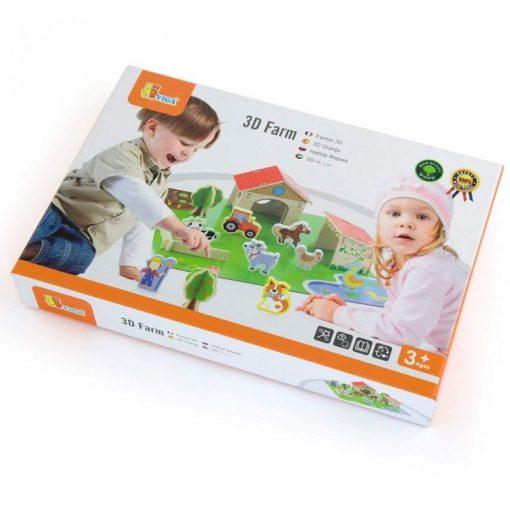 Drewniana Farma dla Zwierząt 3D