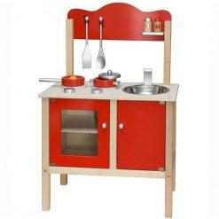 Czerwona Kuchnia z Akcesoriami