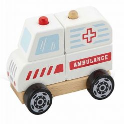 Drewniane Klocki Ambulans