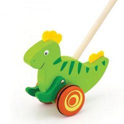 Drewniany Pchacz Dinozaur