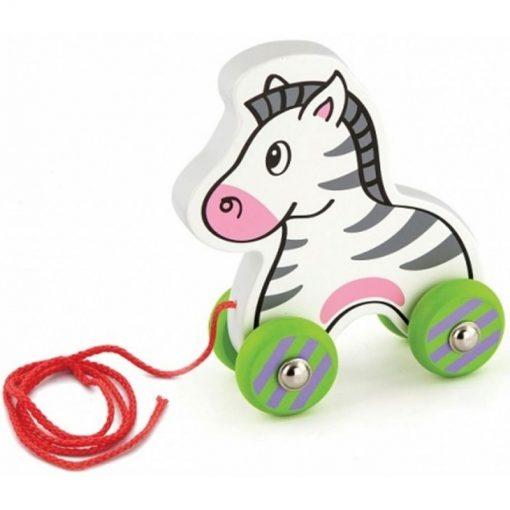 Drewniana Zebra do Ciągnięcia