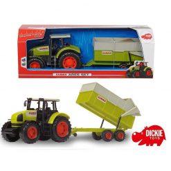 Traktor Claas Ares z przyczepką