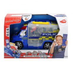 Policyjny van z zestawem akcesoriów
