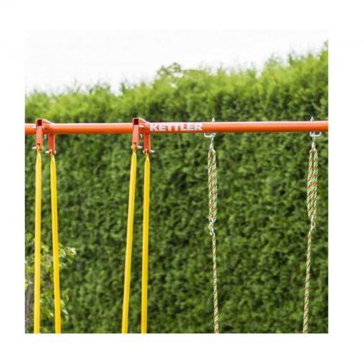 Huśtawka ogrodowa metalowa podwójna