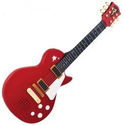 Bordowa gitara rockowa