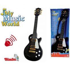 Czarna gitara rockowa