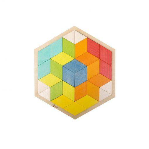 Kolorowe Puzzle 3D