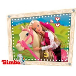 Lalka Steffi Love z koniem w stajni