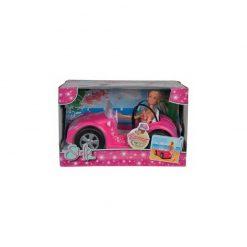 Lalka Steffi Love w letnim samochodzie