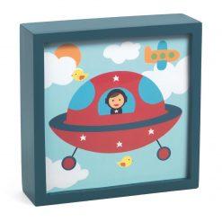 Magiczny obrazek lampka Kosmonauta
