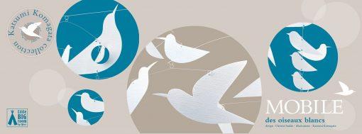Ruchoma dekoracja Białe ptaki