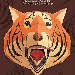 Dekoracja 3D Tygrys