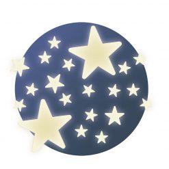 Fluorescencyjne naklejki Gwiazdki