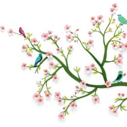 Naklejki 3D Kwitnące drzewo