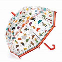 Parasol przeciwdeszczowy W deszczu