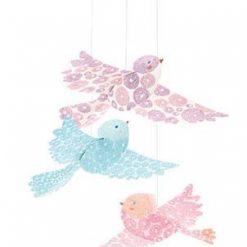 Składanka papierowa Brokatowe ptaszki