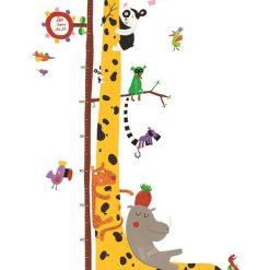 Naklejka z miarką wzrostu Żyrafa