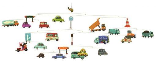 Ruchoma dekoracja Samochody