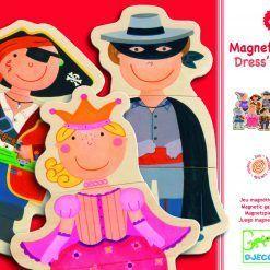 Drewniane puzzle magnetyczne Przebieranki