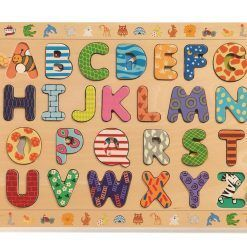 Drewniany alfabet do nauki języka francuskiego