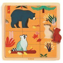 Edukacyjne puzzle drewniane Kanada