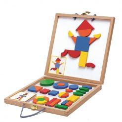 Magnesy drewniane układanka w walizce