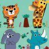 Puzzle drewniane dwuelementowe Dżungla