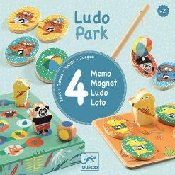 Zestaw czterech gier Ludo Park