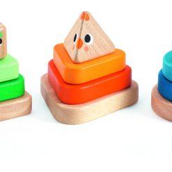 Drewniana układanka Piramidy