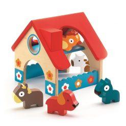 Drewniana zabawka Minifarma