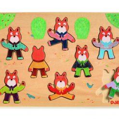 Drewniane puzzle Foxymatch