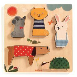 Drewniane puzzle Zwierzątka
