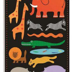 Drewniane puzzle Zwierzęta safari
