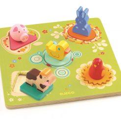 Drewniane puzzle przestrzenne Zwierzątka