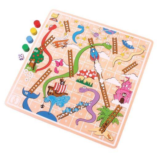 Drewniana gra węże i drabiny