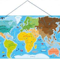 Tablica edukacyjna 2w1 Mapa świata
