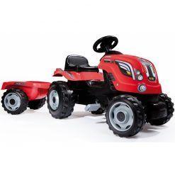 Czerwony Traktor z Przyczepą