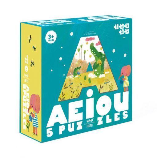 Puzzle dla dzieci Samogłoski