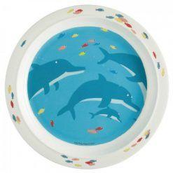 Talerz Morze delfiny