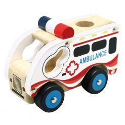 Autko drewniane – ambulans