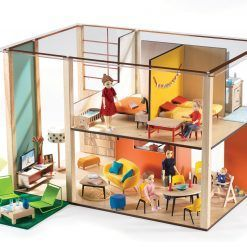 Drewniany domek dla lalek Cubic