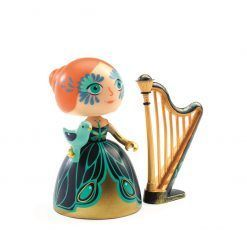 Figurka księżniczki Elisa z harfą