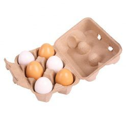 Jajka drewniane 6 sztuk
