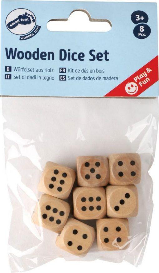 Kostki do gry – zestaw 8 sztuk